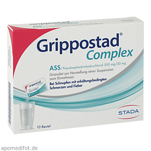 GRIPPOSTAD Complex ASS/Pseudoephedrin 500 mg/30 mg
