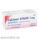 FOLSÄURE STADA 5 mg Tabletten