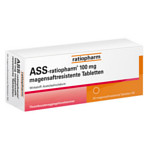ASS ratiopharm 100 mg magensaftres.Tabletten