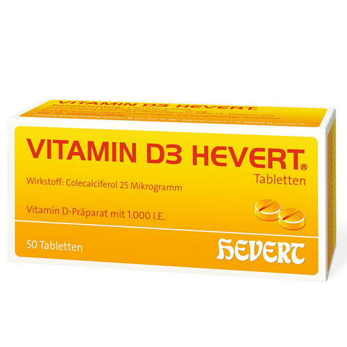 vitamin d3 hevert tabletten 50 st. Black Bedroom Furniture Sets. Home Design Ideas