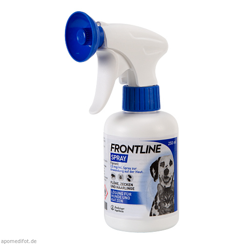 frontline spray f r hunde katzen bei fl hen zecken co. Black Bedroom Furniture Sets. Home Design Ideas