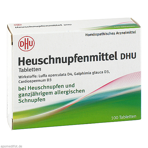 dhu heuschnupfenmittel tabletten 100 st ck g nstig bei omp. Black Bedroom Furniture Sets. Home Design Ideas